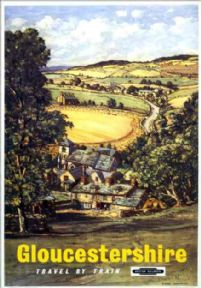 Gloucestershire, British Railways Travel poster, by Claude Muncaster